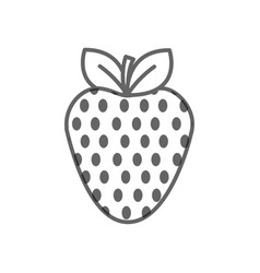 Figure strawberry fruit icon stock vector