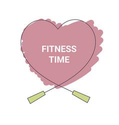 fitness time concept fitness time concept vector image