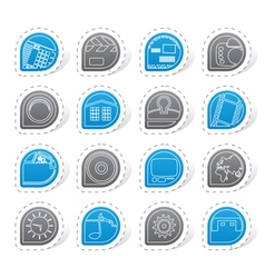 Internet computer and mobile phone icons vector