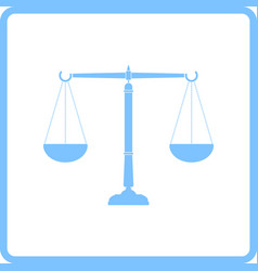justice scale icon vector image vector image