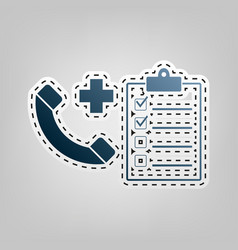 Medical consultation sign blue icon with vector