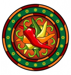 Mexican hot chili logo vector image vector image