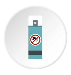 Mosquito repellent spray icon circle vector