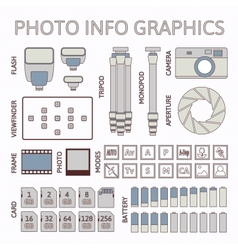 Photo infographics set part one vector