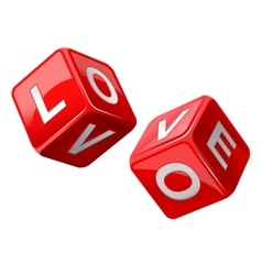 Red dice love vector