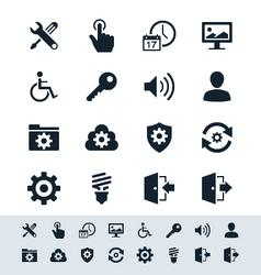 Setting icon set simplicity theme vector image