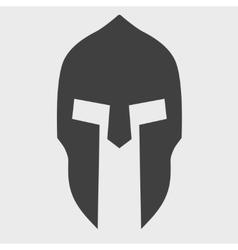 Silhouette of spartan helmet vector