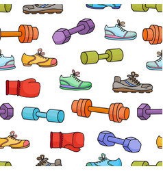 sport equipment healthy lifestyle elements vector image vector image