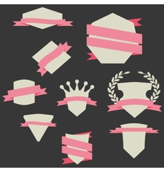 Stickers and Badges Flat Style vector image