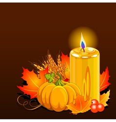 Thanksgiving Day Still Life vector image