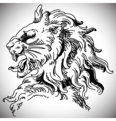 with baroque lion head in Victorian style vector image vector image