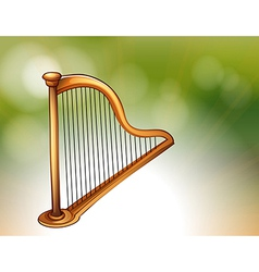 A golden harp vector