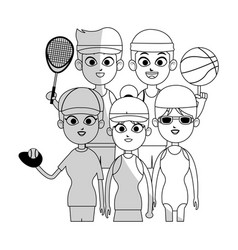 Sports people icon image vector