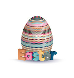 Easter greeting concept eggs with geometric vector