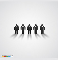 black people silhouette row team concept vector image