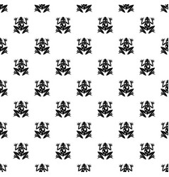 Frog pattern vector