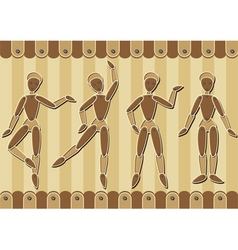 Wooden marionettes vector image