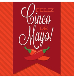Retro style cinco de mayo happy 5th of may card in vector