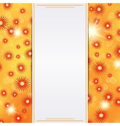 Autumn card template vector image
