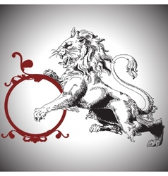 With baroque lion in victorian style vector