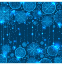 Blue christmas background with snowflakes vector