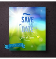 Save the date template for a spring wedding vector