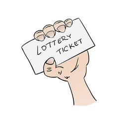 Lottery ticket in hand vector