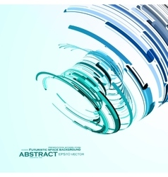 Futuristic abstract shape  technology vector