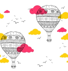 Air baloon seamless pattern vector
