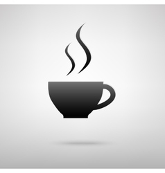 Cup of coffee black icon vector image
