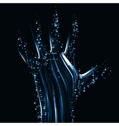 Abstract light hand vector