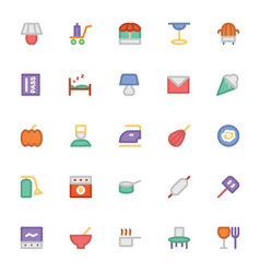 Hotel and restaurant colored icons 15 vector