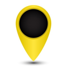 Blank tag yellow color to indicate on the map vector