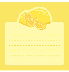 Lemon memo notes vector