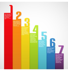 Rainbow banners with numbers vector