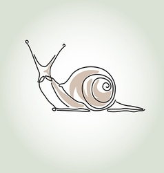 Snail in minimal line style vector