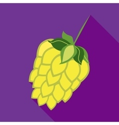 Hop cone icon in flat style vector