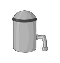 Barrel with tap icon black monochrome style vector