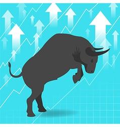 Bull market presents uptrend stock market vector