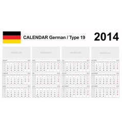 Calendar 2014 german type 19 vector