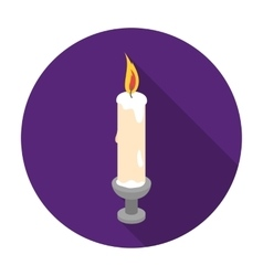 Candle icon in flat style isolated on white vector