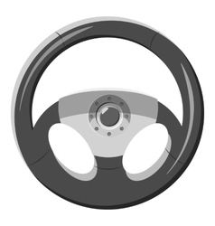 Car rudder icon gray monochrome style vector