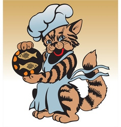 cat chef vector image