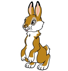 childish rabbit vector image