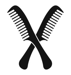 Combs icon simple style vector