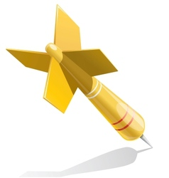 Dart target aim yellow vector image vector image