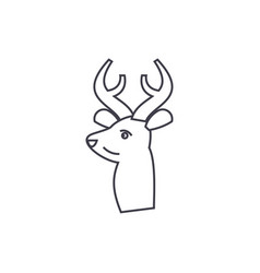 deer line icon sign vector image vector image