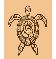 Ethnic ornamented turtle vector