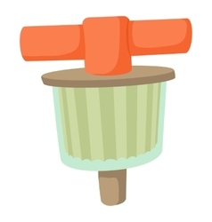 Fuel filter icon cartoon style vector