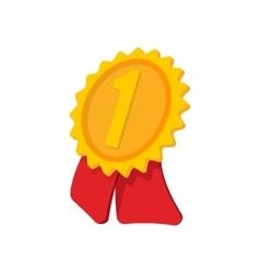 Gold award ribbon cartoon icon vector